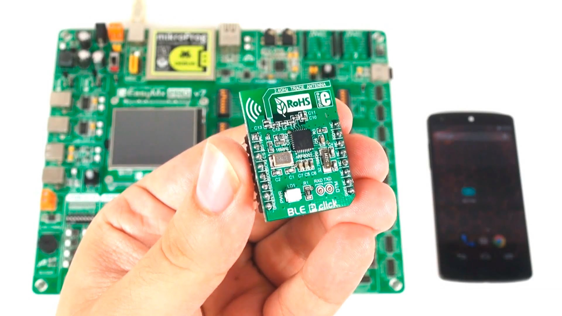 Develop Android-friendly smart gadgets with BLE P click