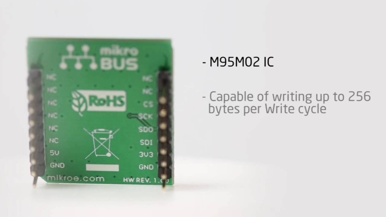More bytes for your projects, with EEPROM 2 click