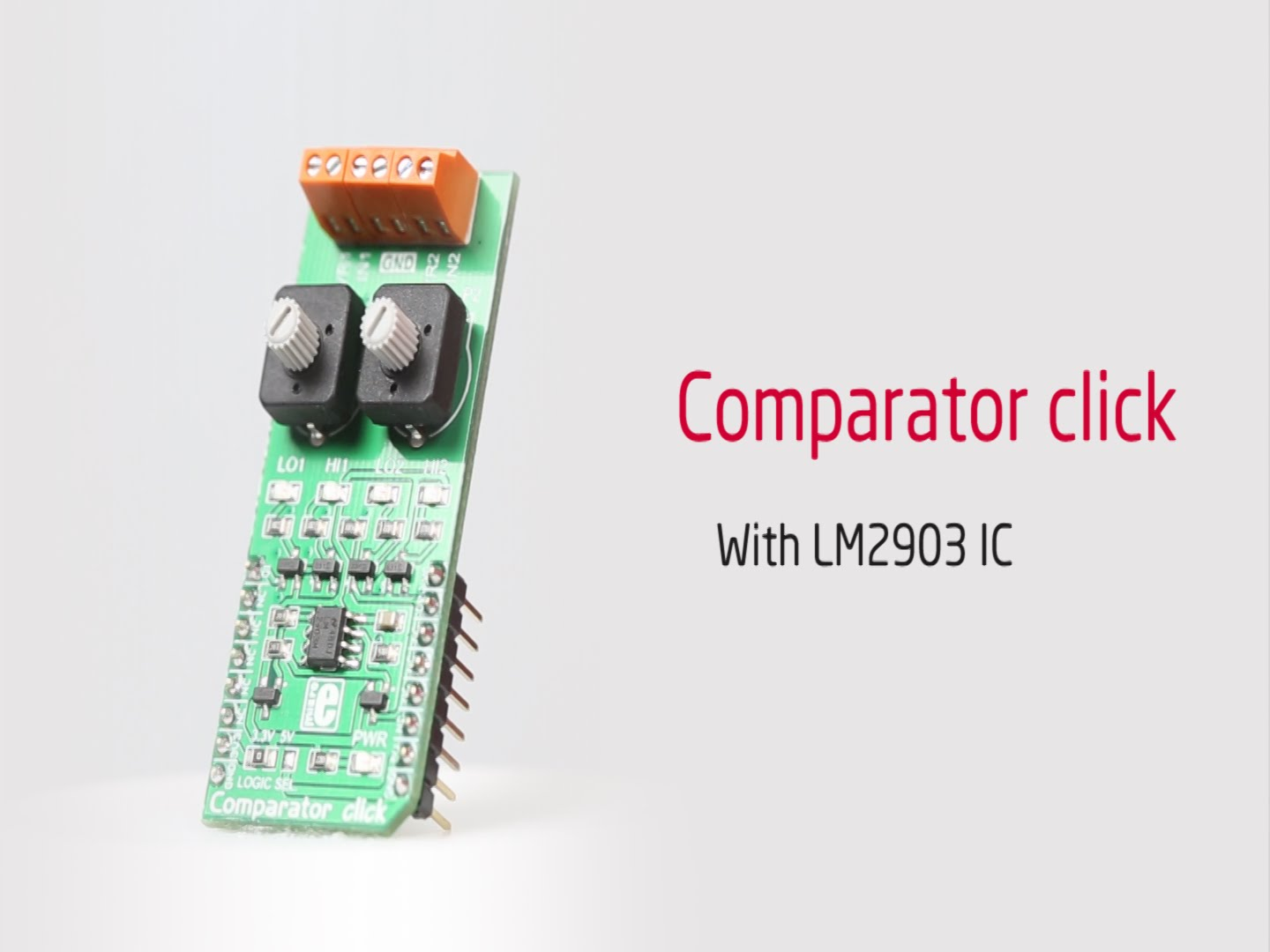 Comparator click released