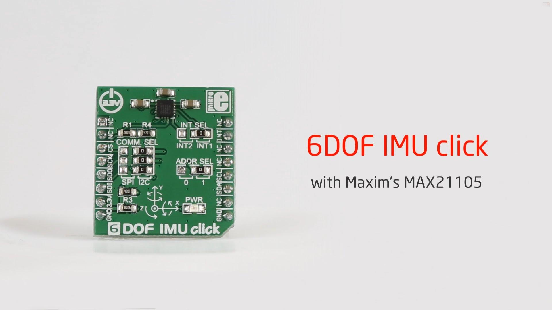 6DOF IMU click released