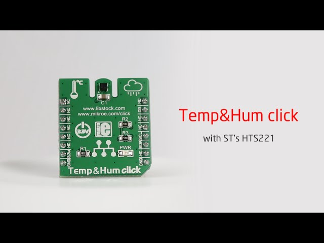 Temp & Hum click measures the changing seasons