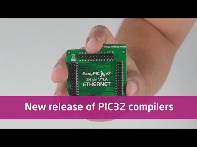 New version of PIC32 compilers adds support for PIC32MZ