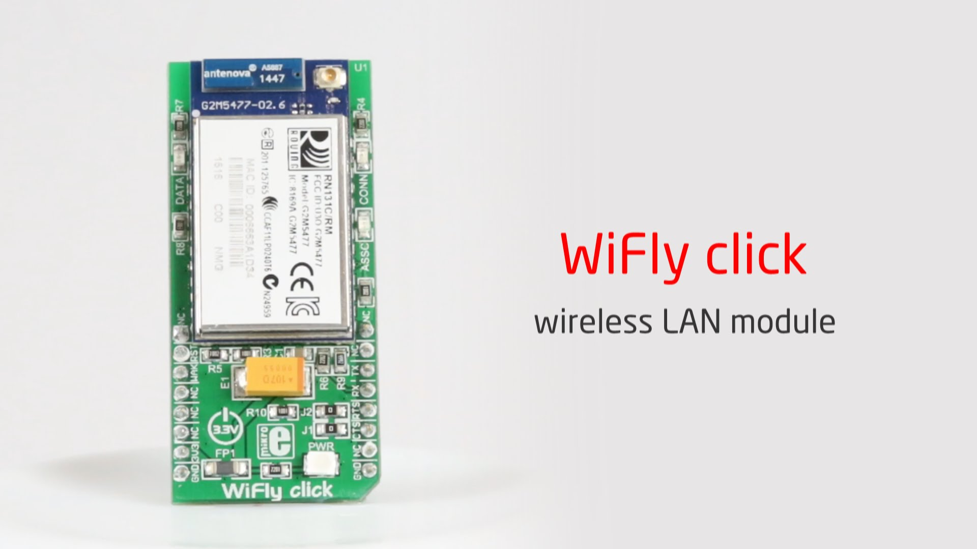Connect your devices to the internet on the fly, with WiFly click