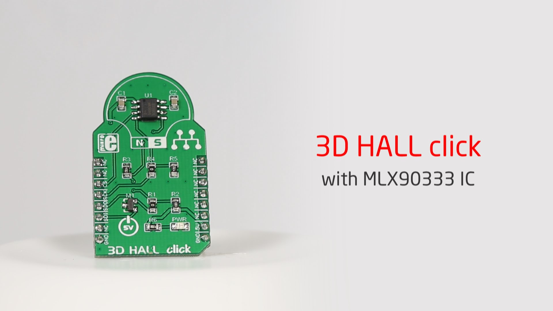 3D Hall click released