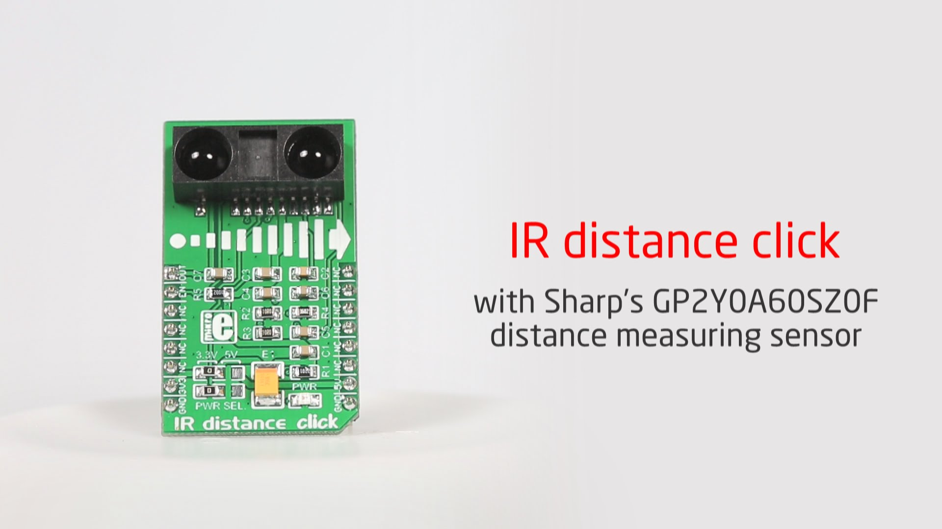 IR distance click released