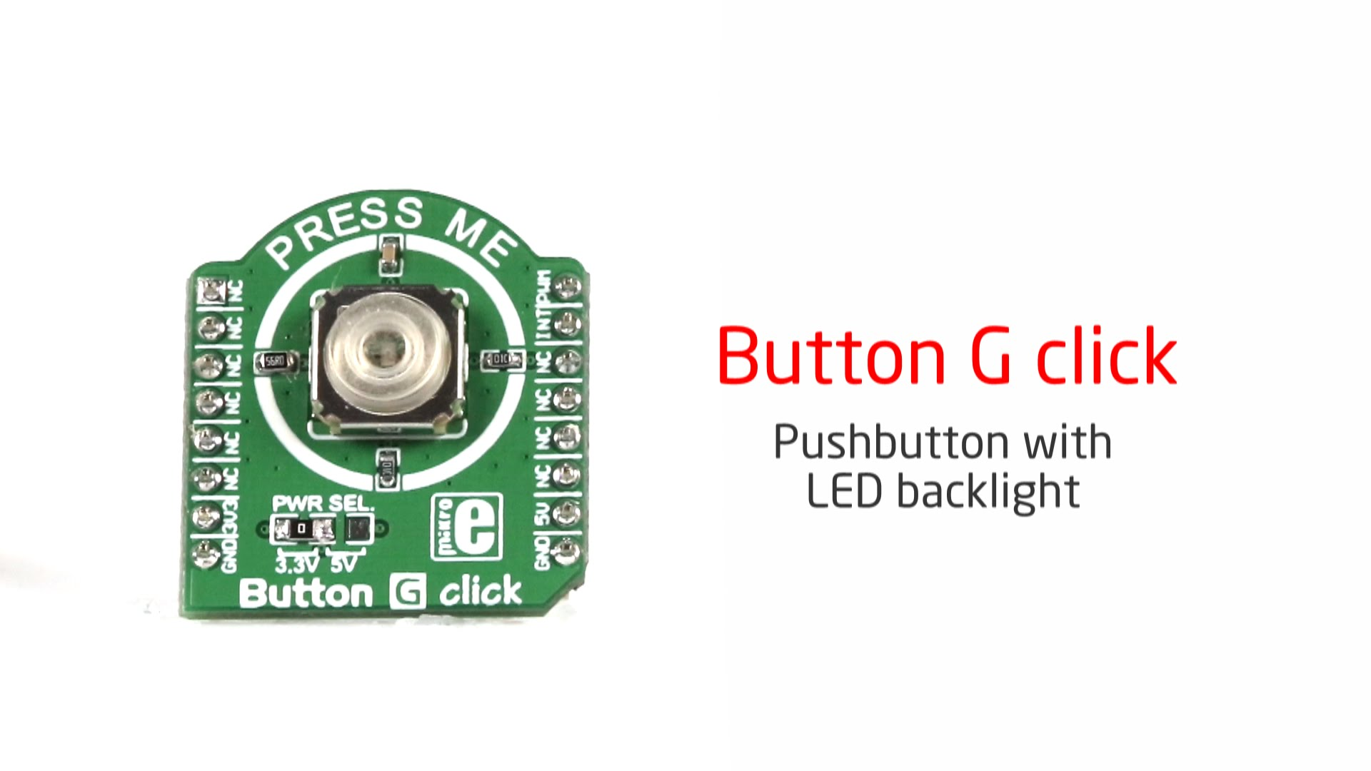 Another flavor of the button click with the LED backlight released