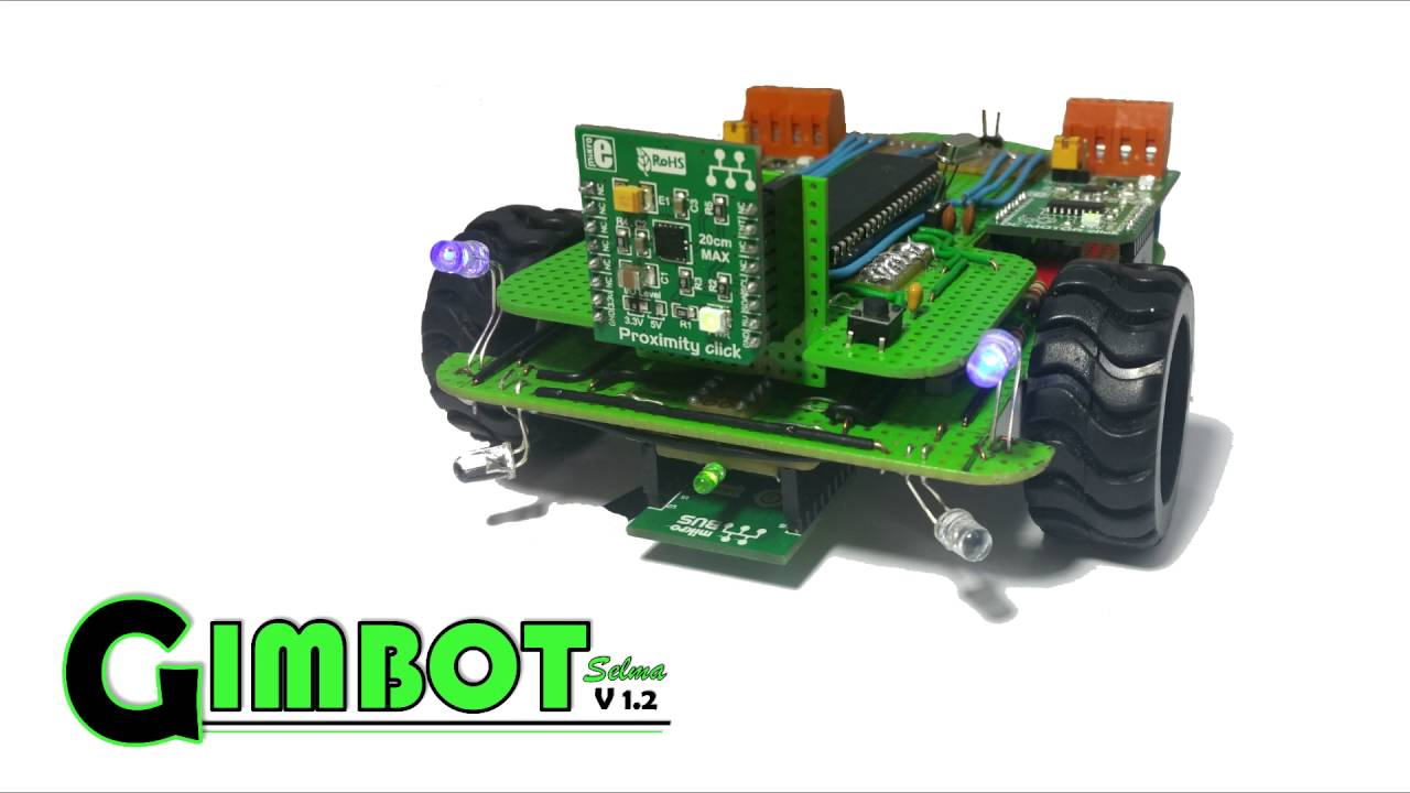 Four Click Boards In An 8 Bit Pic Powered Obstacle Avoiding Line Following Robot Without Microcontroller Follower