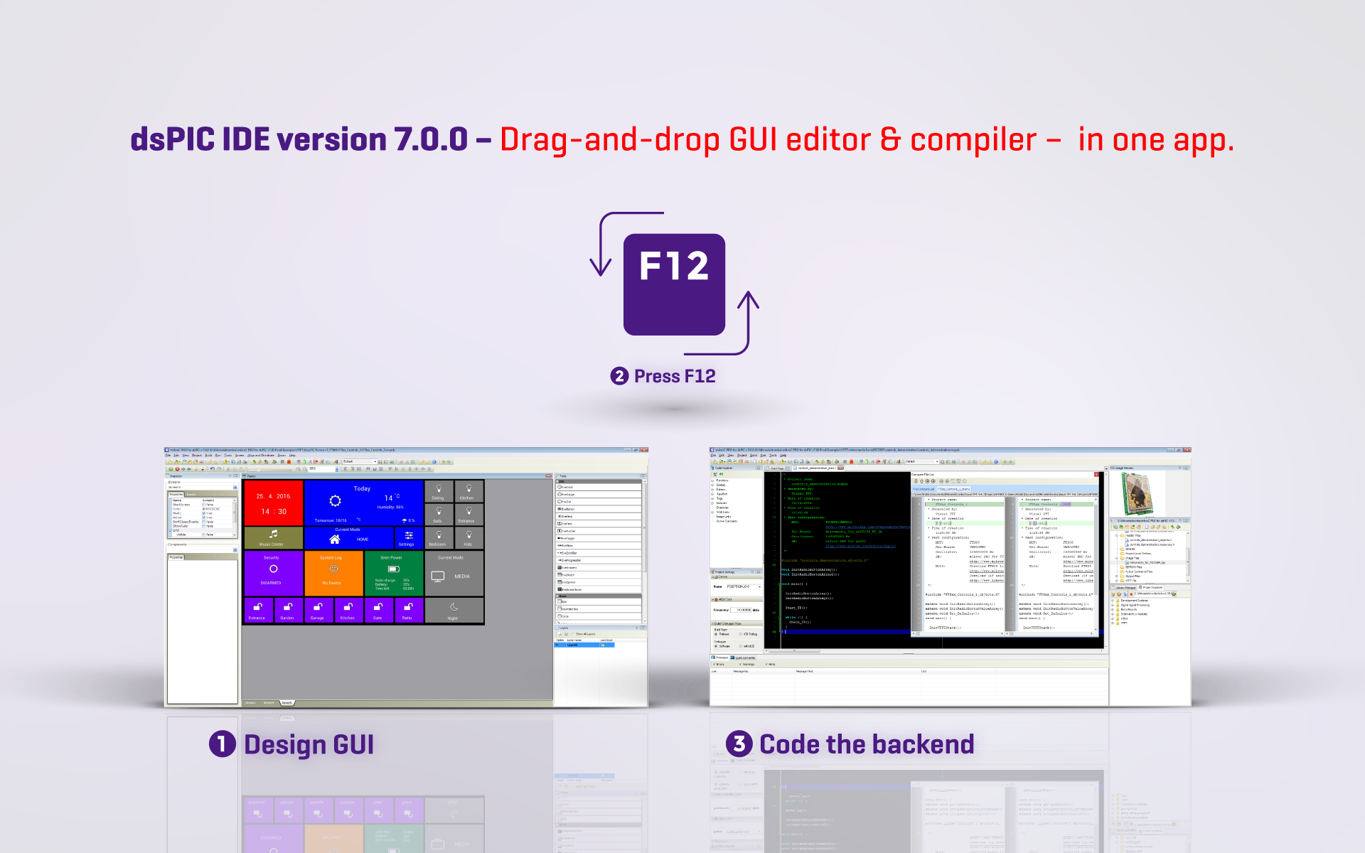 mikroC, mikroBasic and mikroPascal for dsPIC version 7.0.0 released