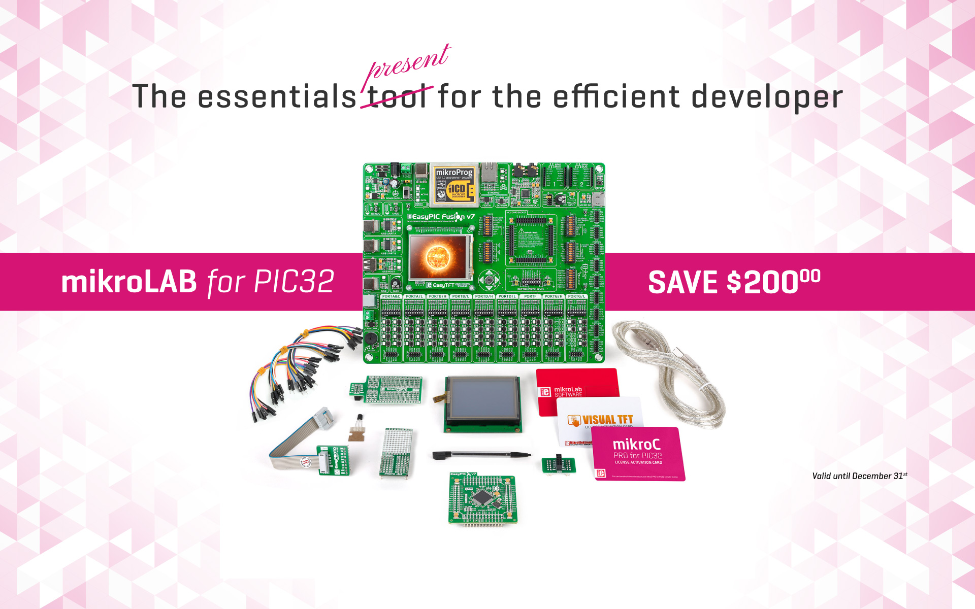 mikroLAB for PIC32 - perfect present for an efficient developer