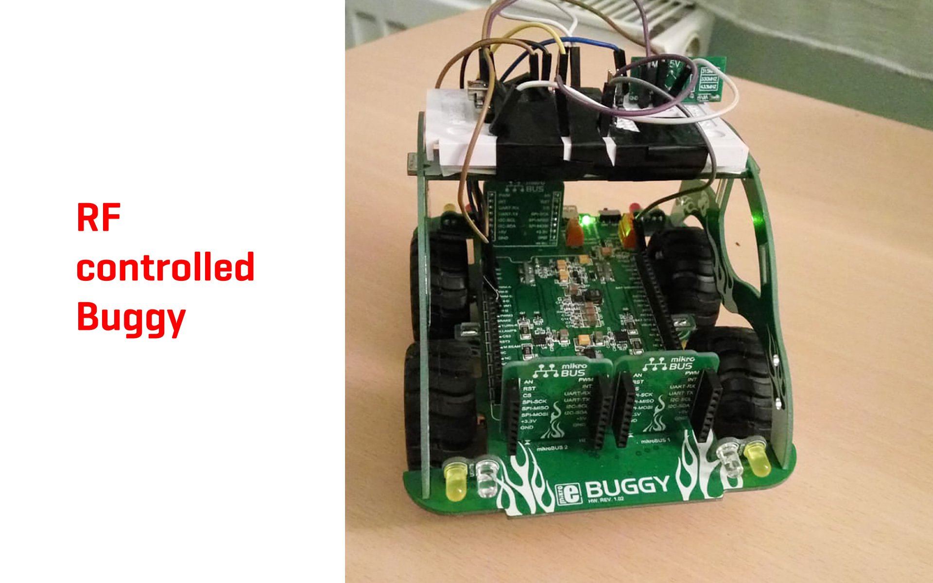RF controllable Buggy project