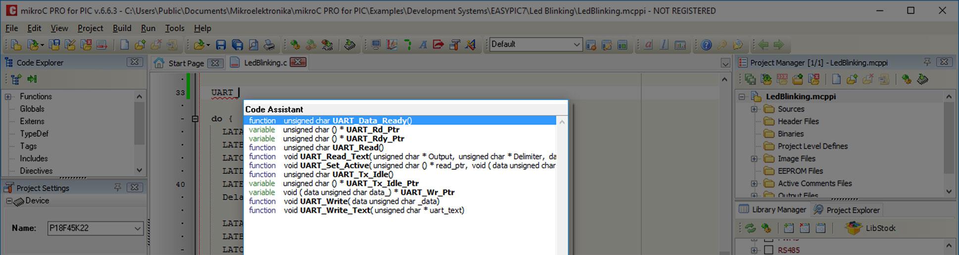 MikroElektronika Code Assistant
