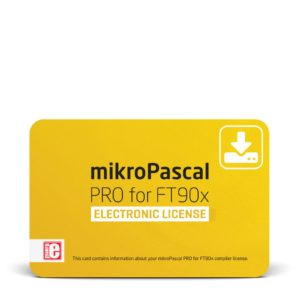 mikroPascal PRO for FT90x Electronic License