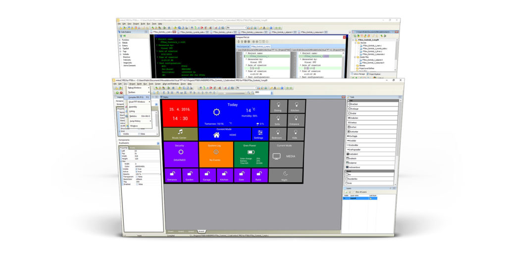mikroC And Visual TFT In One IDe