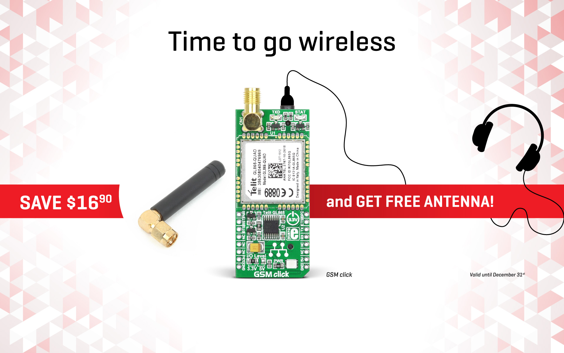 Special offer on the GSM click