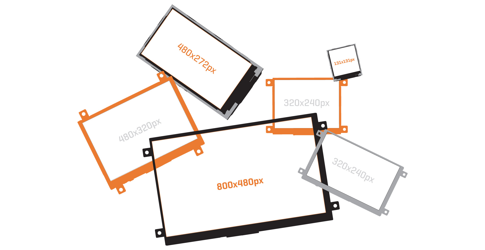 Visual TFT – controllers and displays