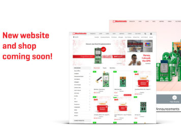 New website and shop banner