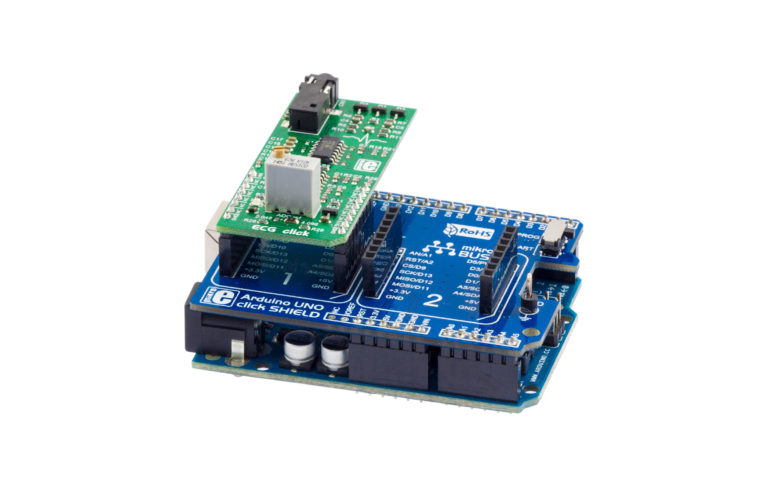 Take a look at how to use ECG click with Arduino UNO