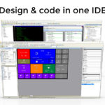 Design and code in one IDE banner learn