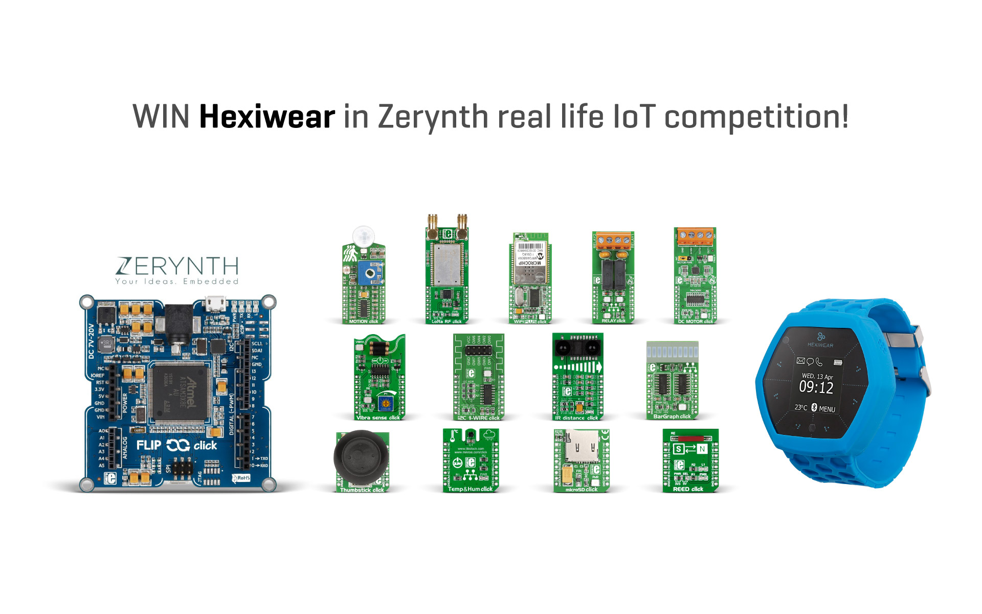 Win Hexiwear in the Zerynth IoT competition