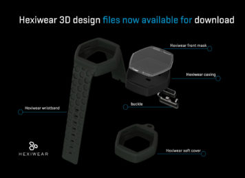 Hexiwear 3D files available to download