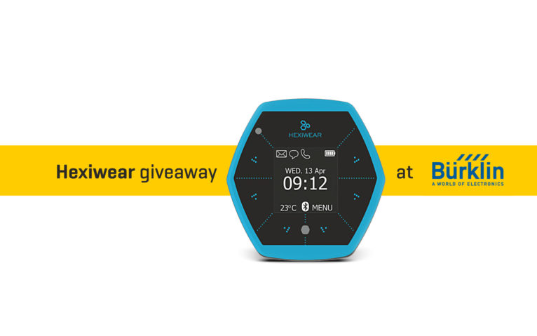 Hexiwear giveaway at Burklin banner news