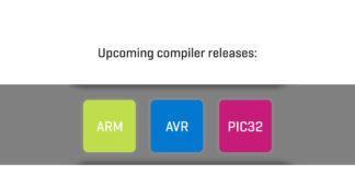 Upcoming compiler releases: ARM, AVR and PIC32 banner