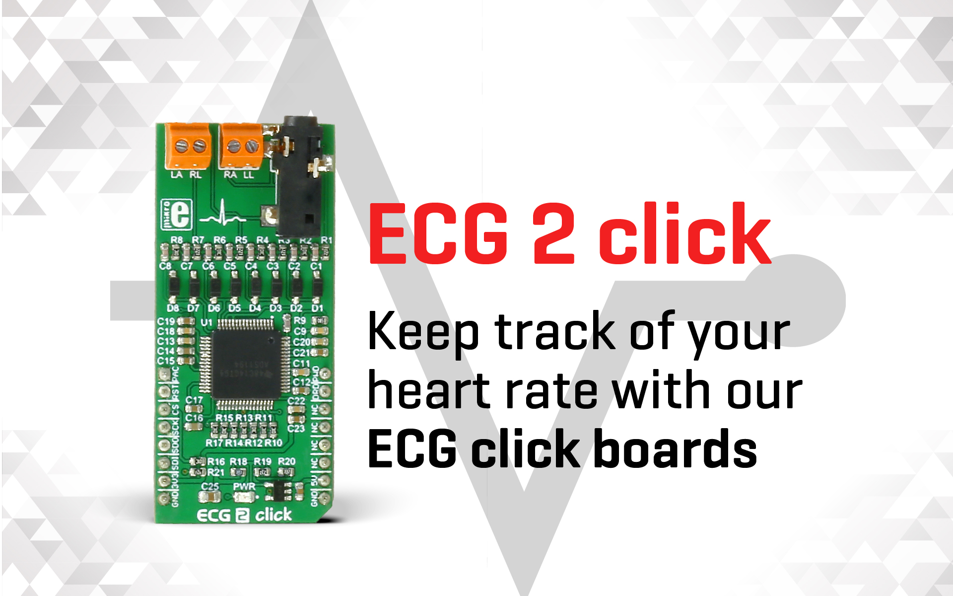 Keep track of your heart's health with ECG 2 click