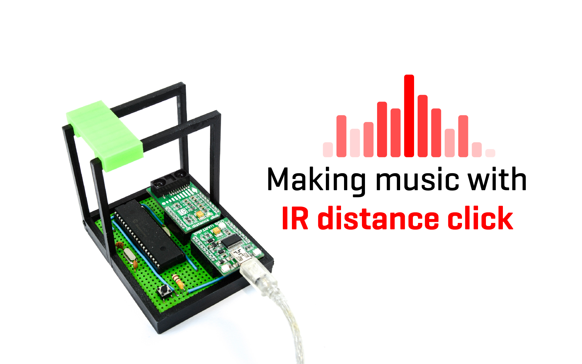 Making music with the IR distance click - a digital Theremin project