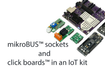 mikroBUS sockets on an IoT kit