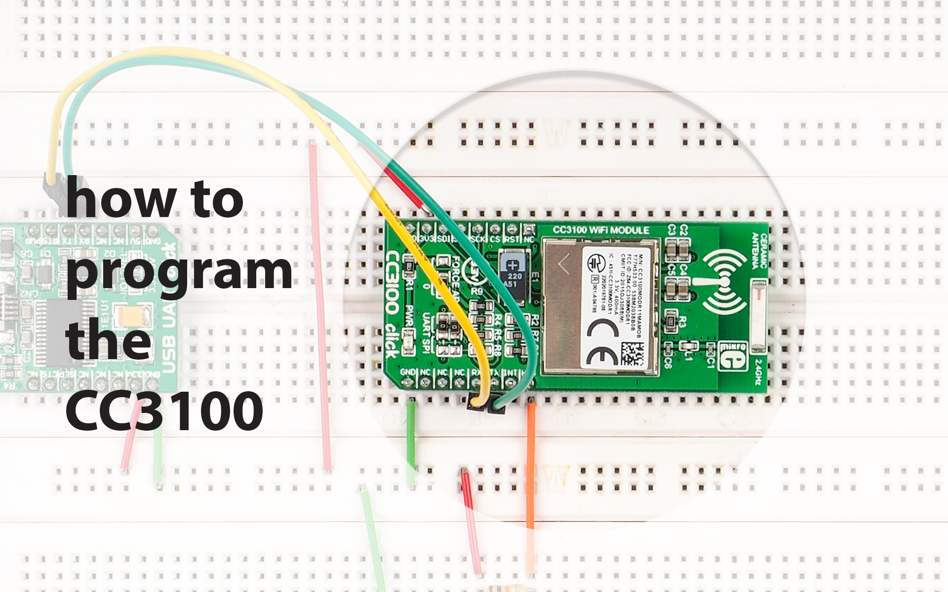 How to program the CC3100 click - a tutorial on electronza.com