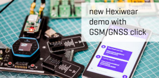 Hexiwear new demo with GSM/GNSS