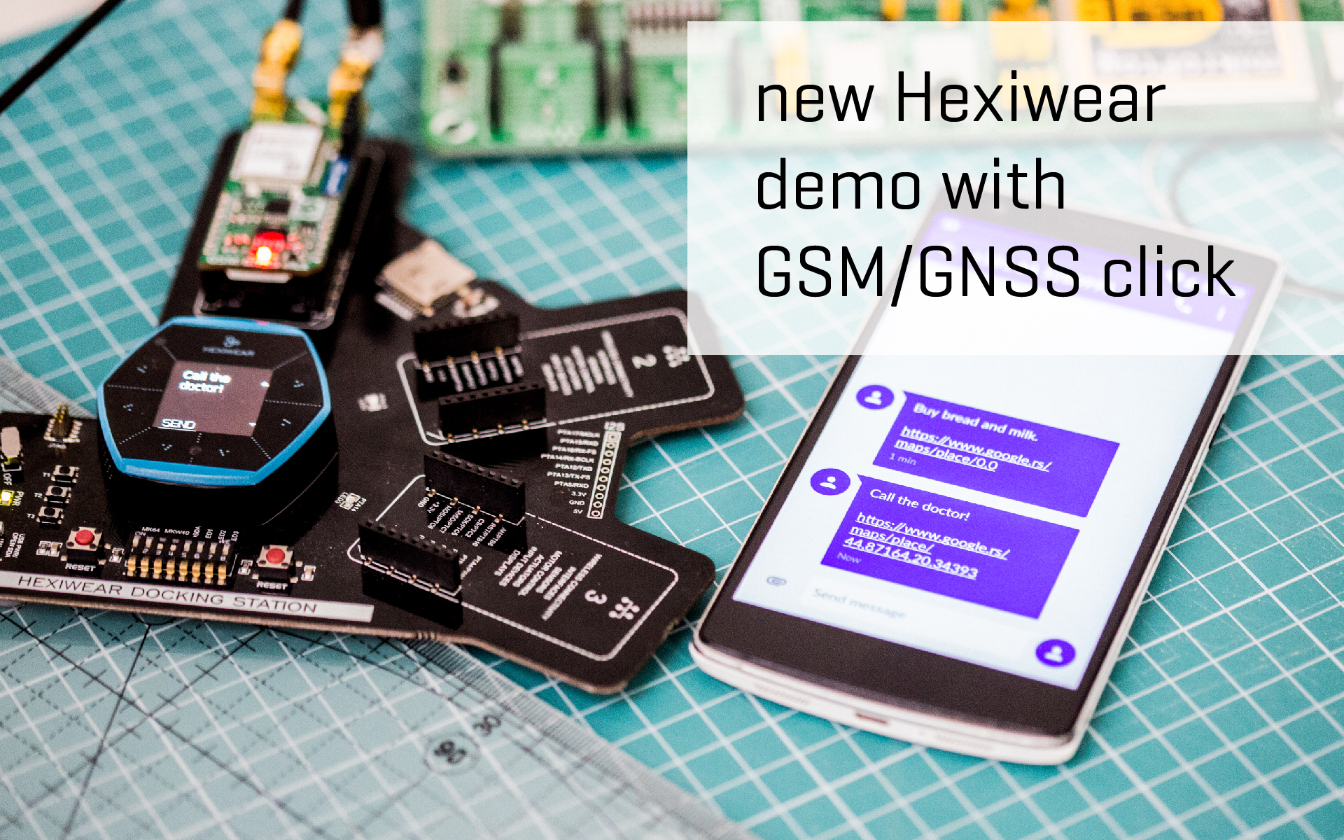 New Hexiwear demo with GSM/GNSS click