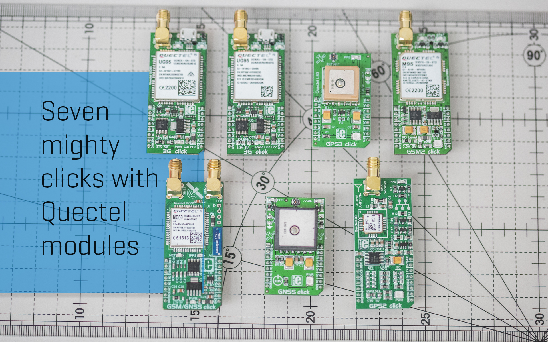 Seven mighty clicks with Quectel modules