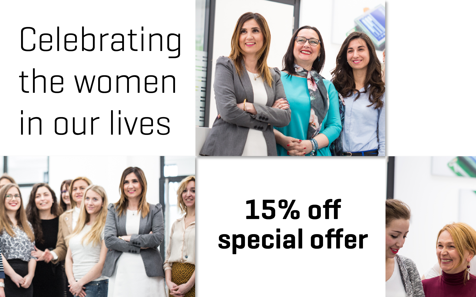 Celebrating International Women's Day with a 15% discount