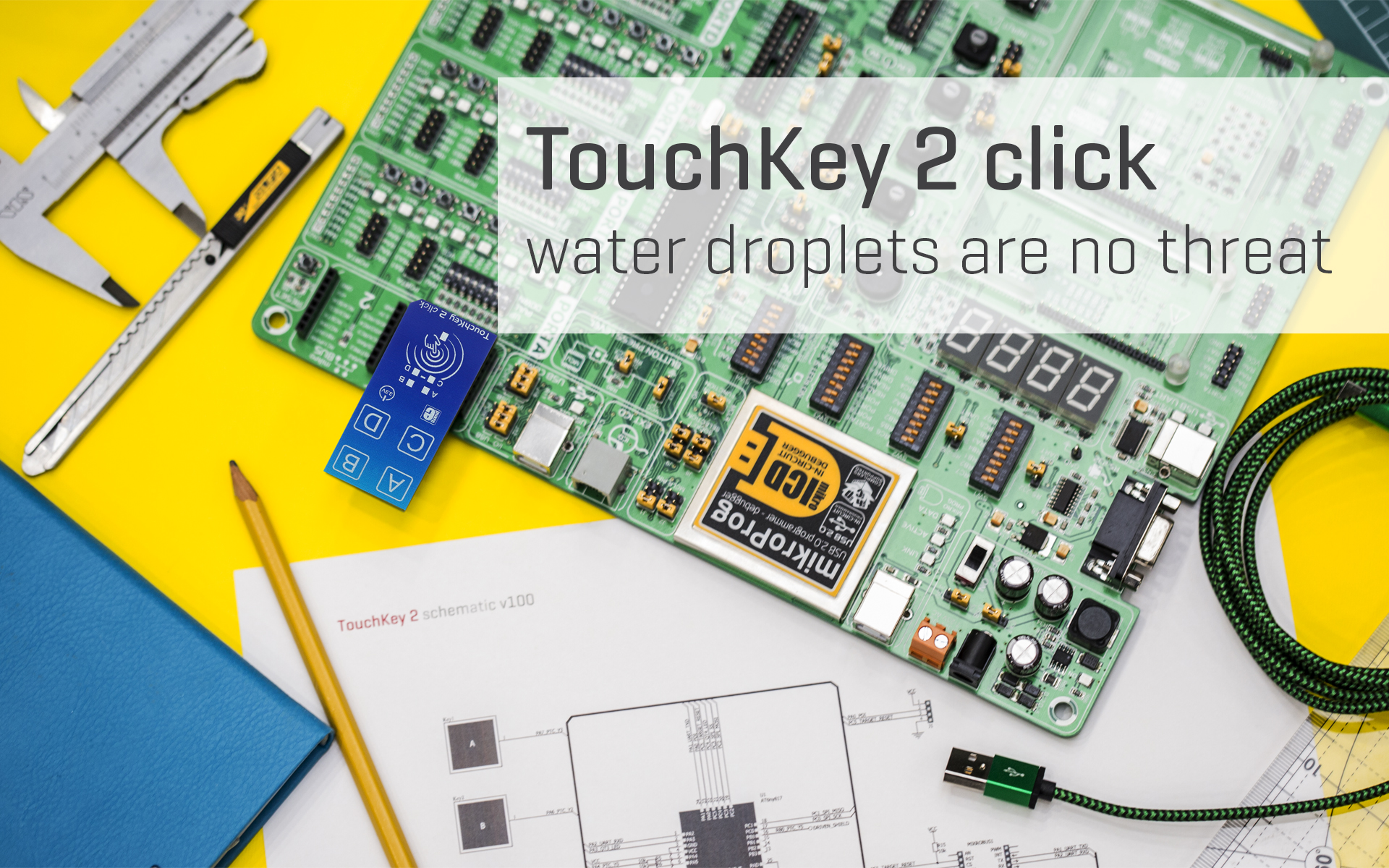 TouchKey 2 click - water droplets are no threat