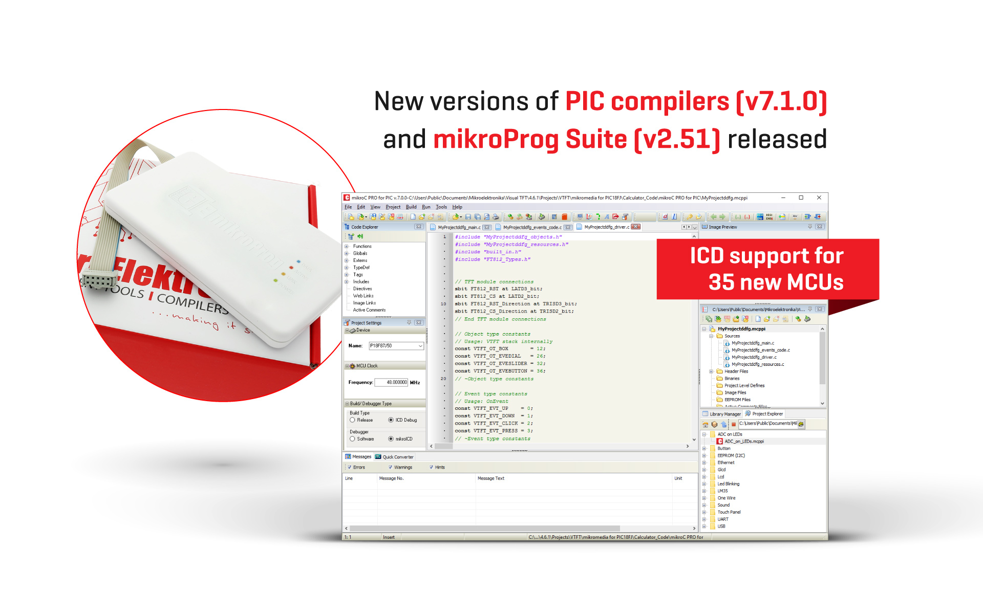 mikroC, mikroBasic and mikroPascal for PIC v7.1.0 released