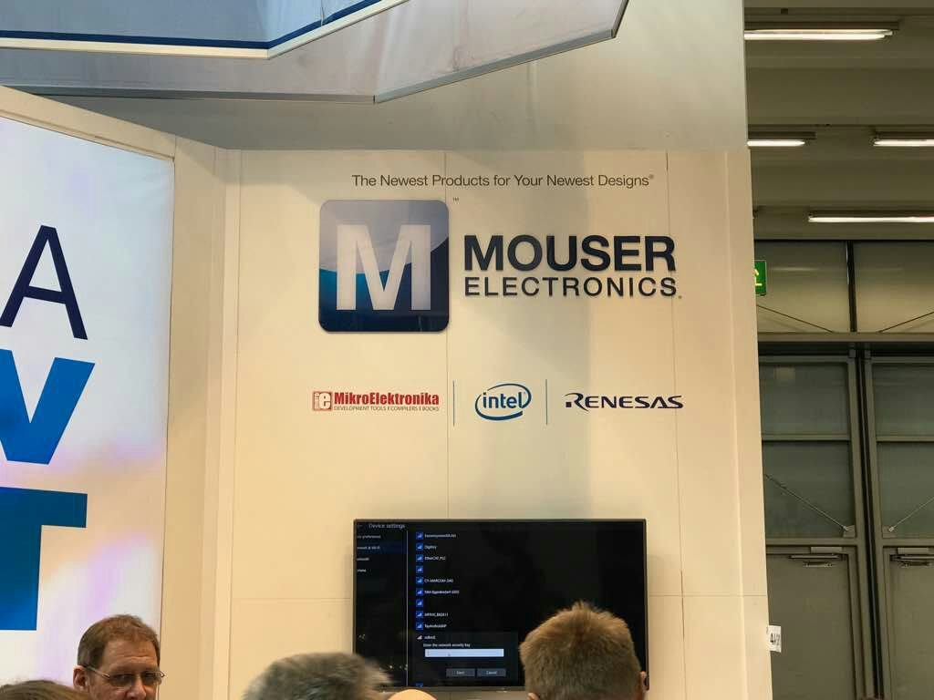 Mouser Electronics at Embedded World 2017