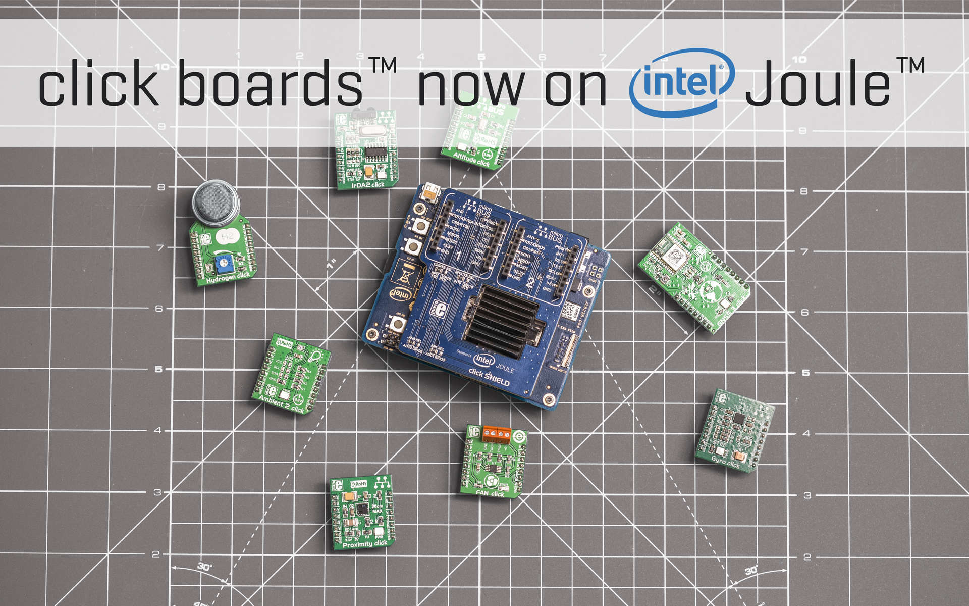 Intel Joule click SHIELD — perfect for IoT development