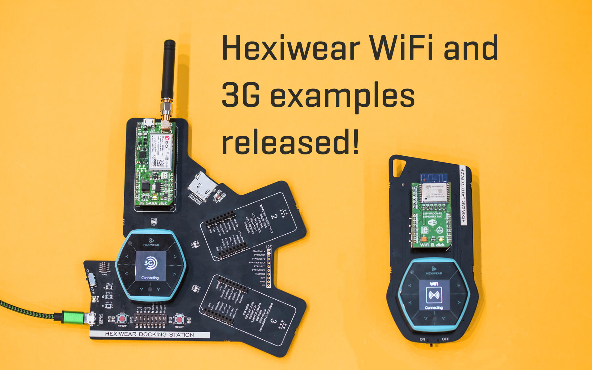 Hexiwear WiFi and 3G examples released