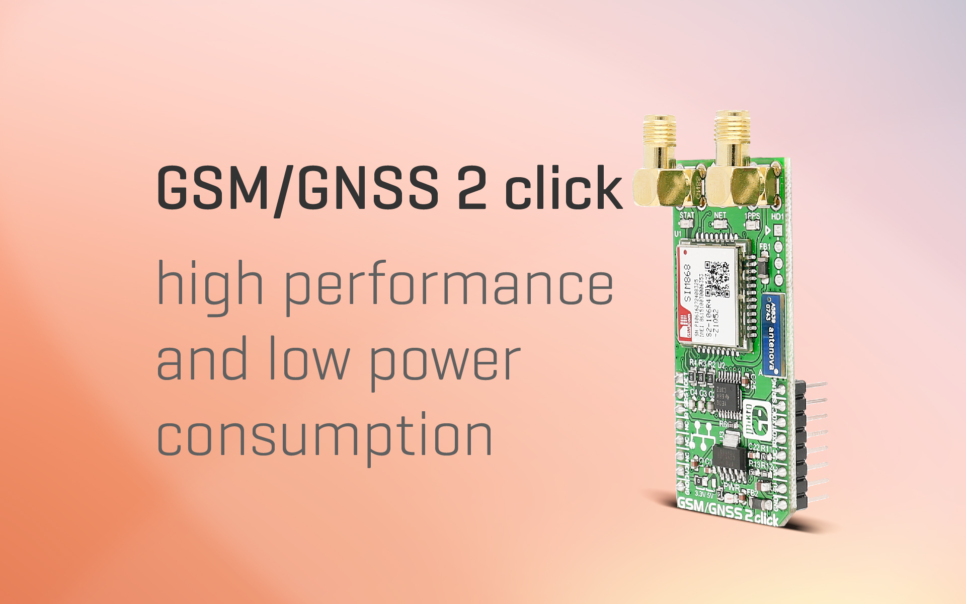 GSM/GNSS 2 click — asset tracking, mobile communication and more