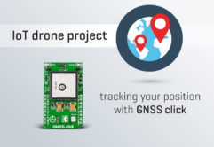 IoT drone project with GNSS click