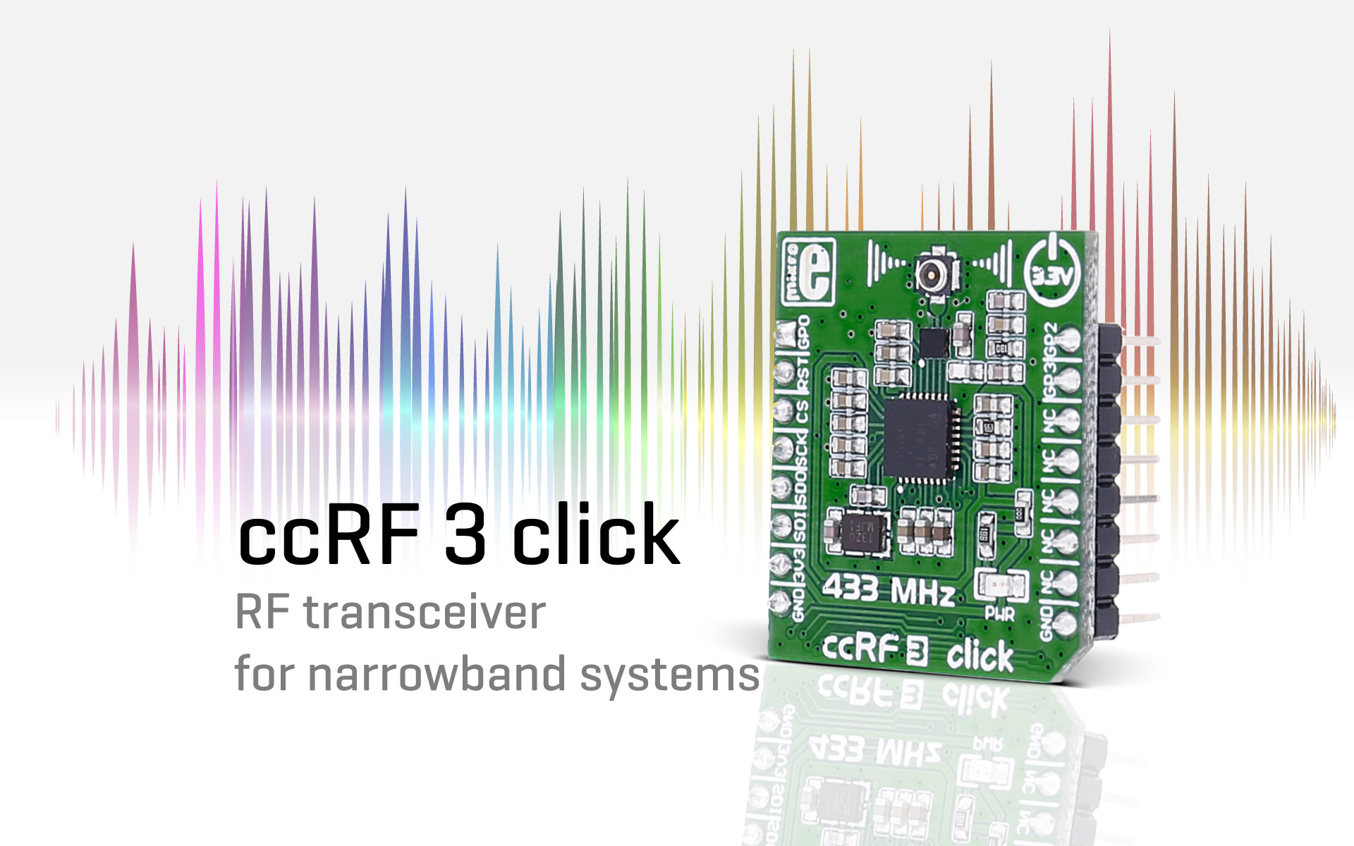ccRF 3 click — RF transceiver for narrowband systems
