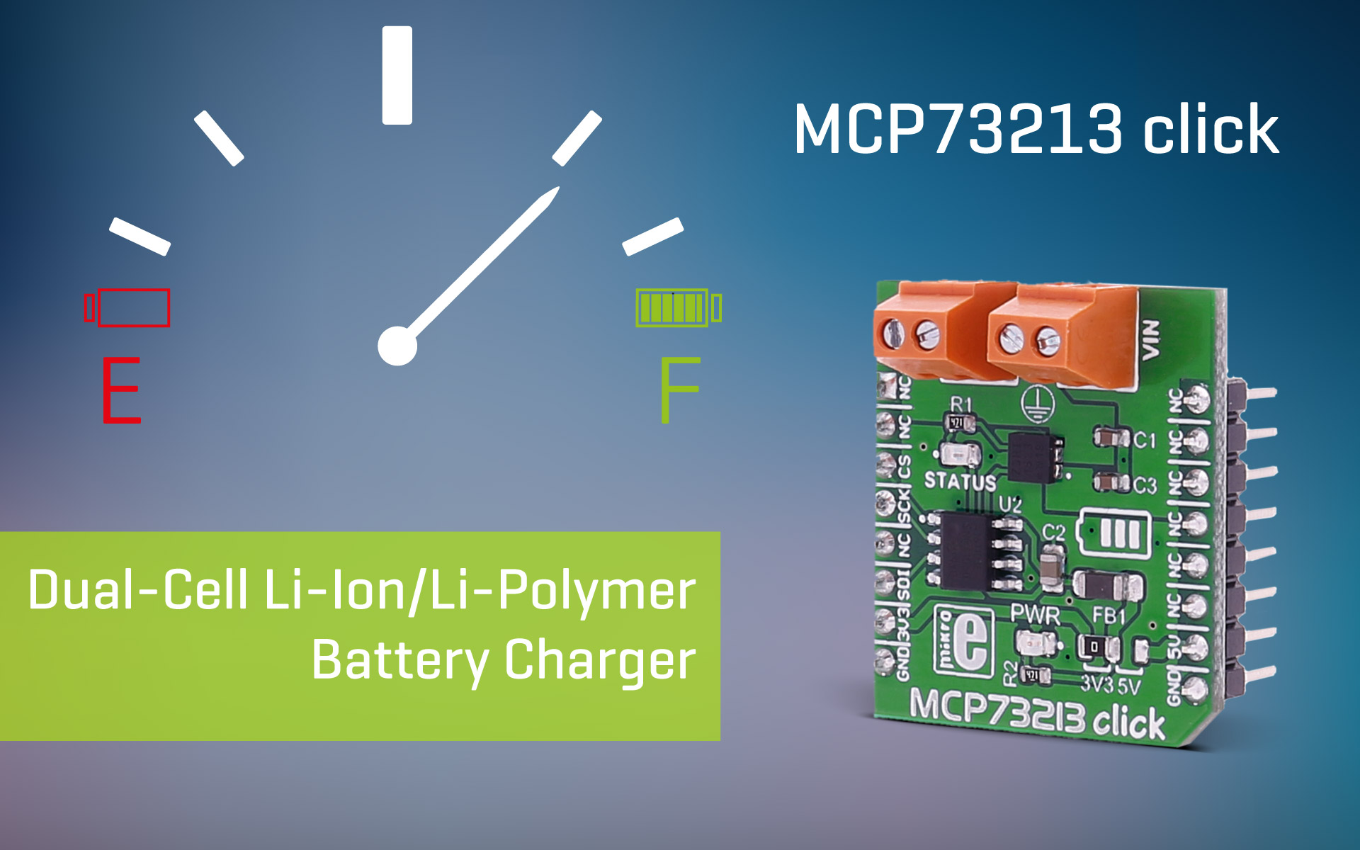 Mcp73213 Click Dual Cell Li Ion Polymer Battery Charger Overvoltage Protection Ic