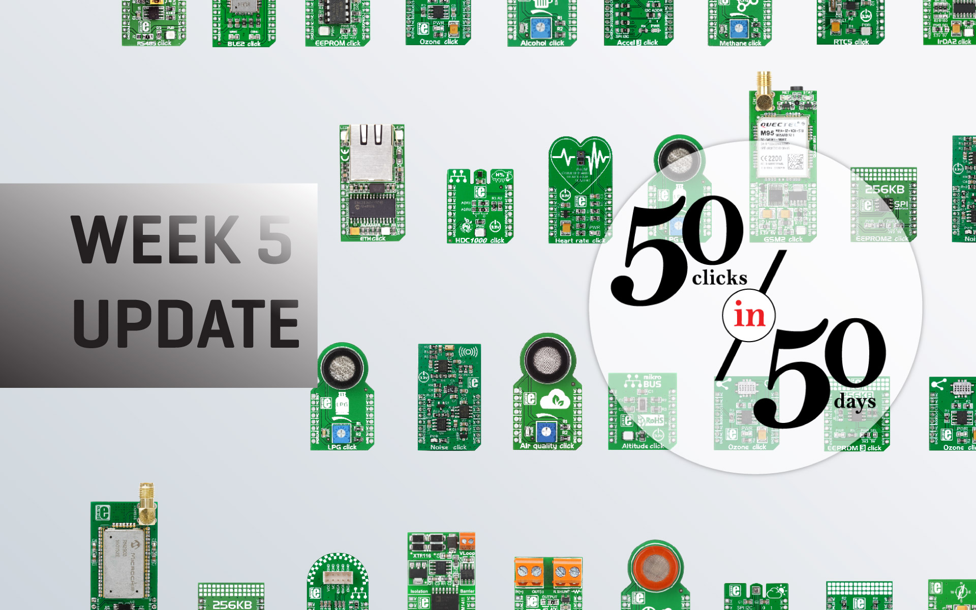 Week 5 update — 50 clicks in 50 days with Microchip
