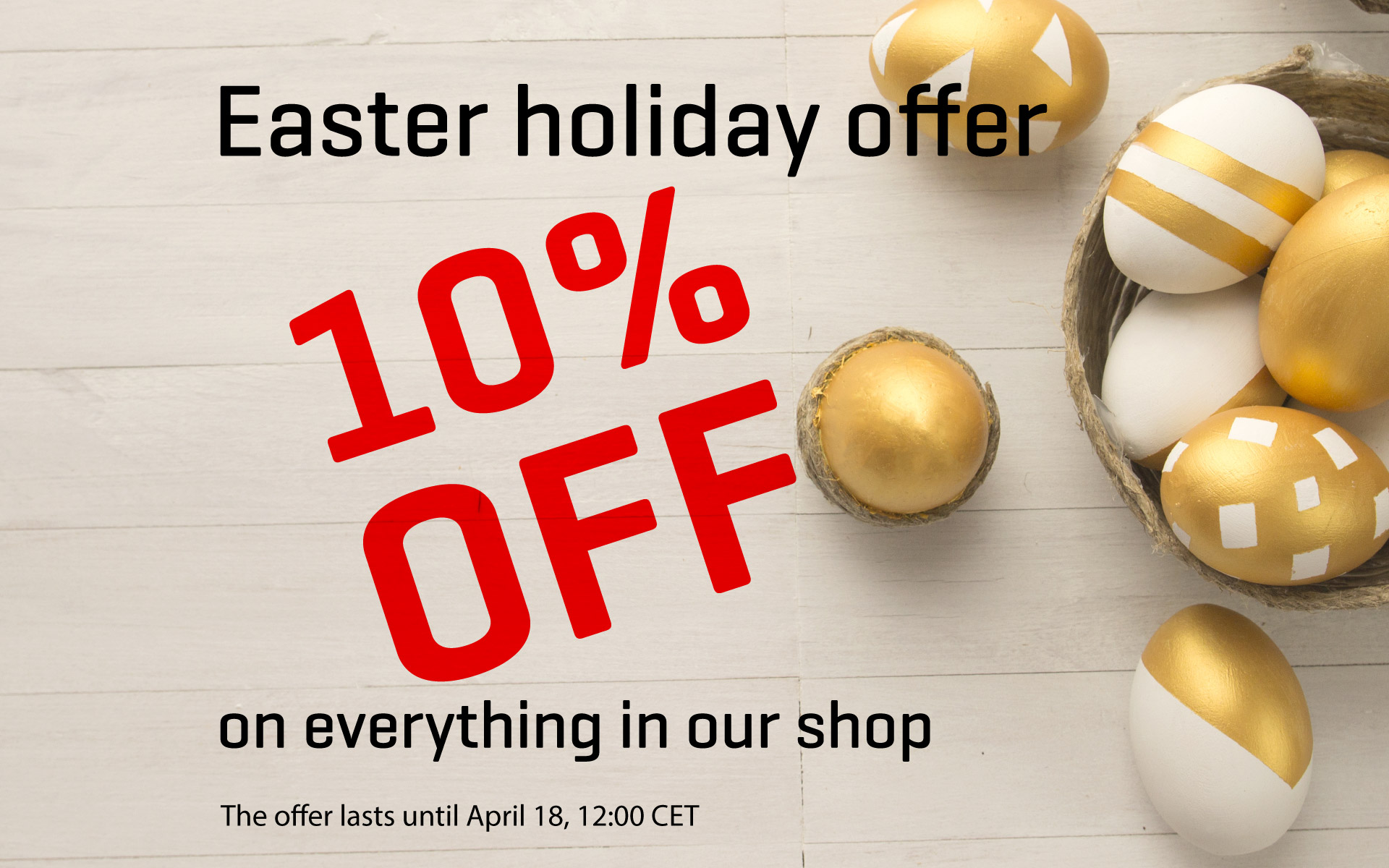 Annual Easter discount - Hop to our Shop