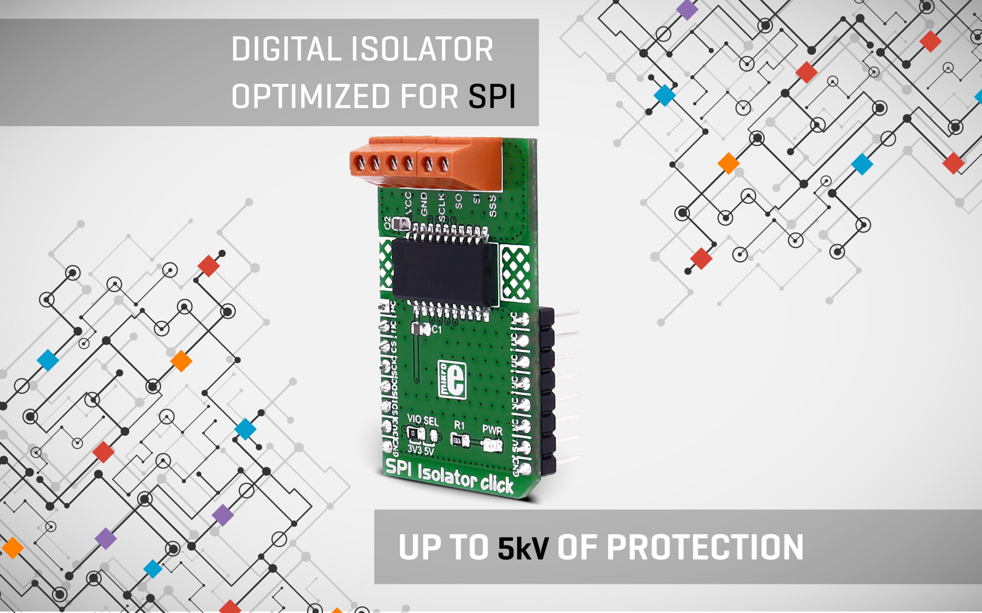 SPI Isolator click - a digital isolator optimized for SPI