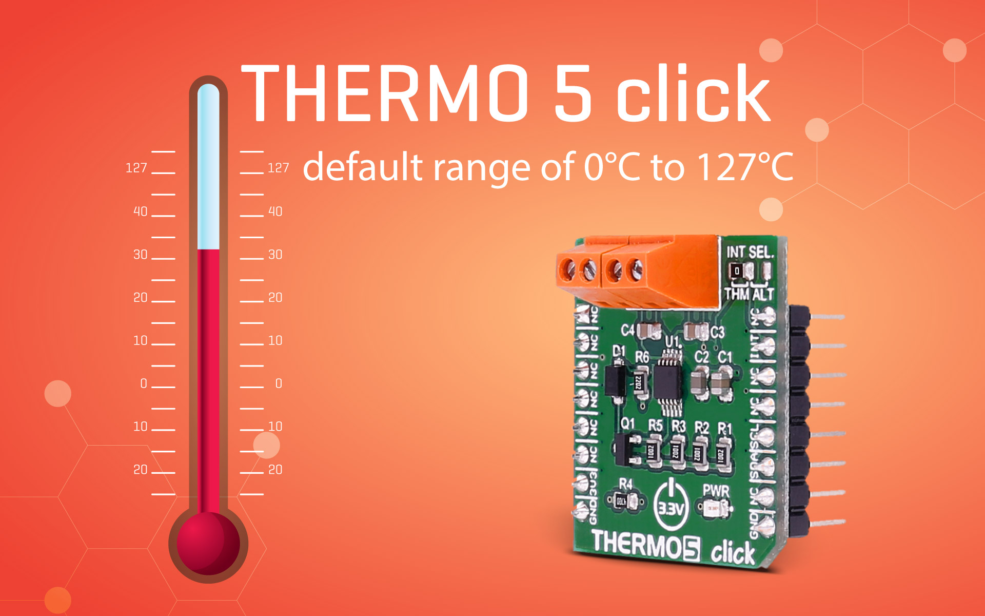 THERMO 5 click — monitoring four temperature channels