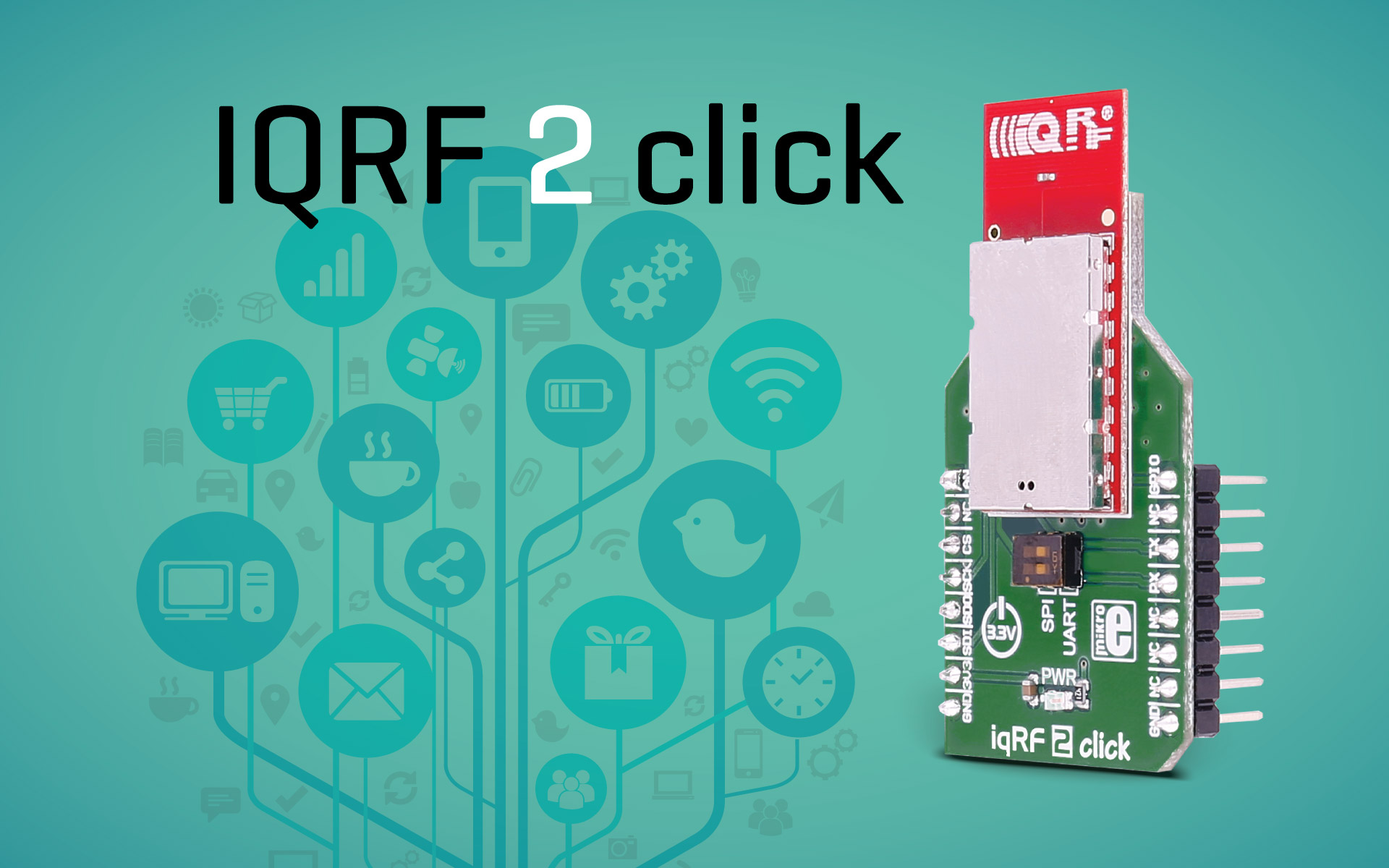 IQRF 2 click - IQRF technology transceiver
