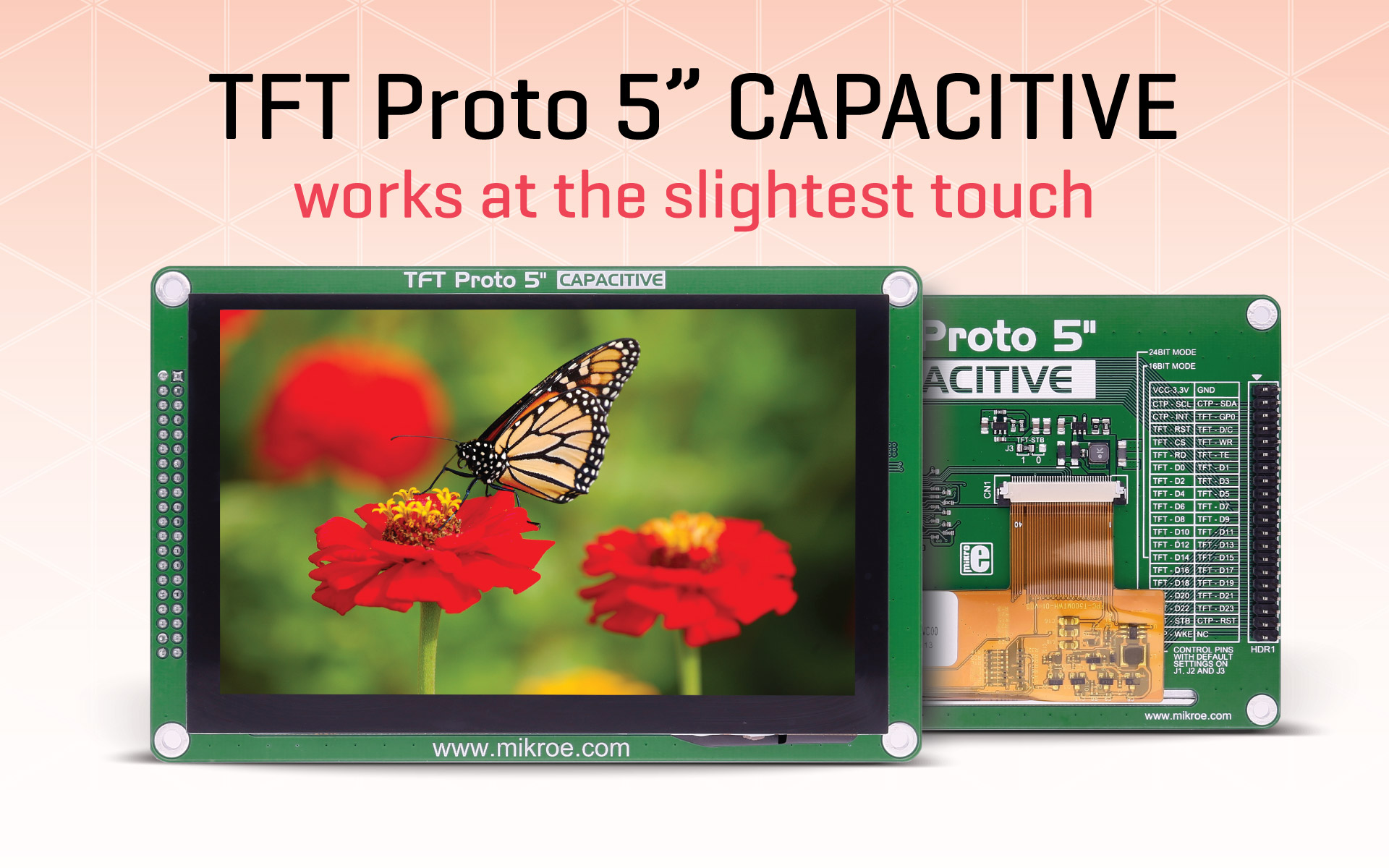 TFT PROTO 5'' Capacitive – works at the slightest touch