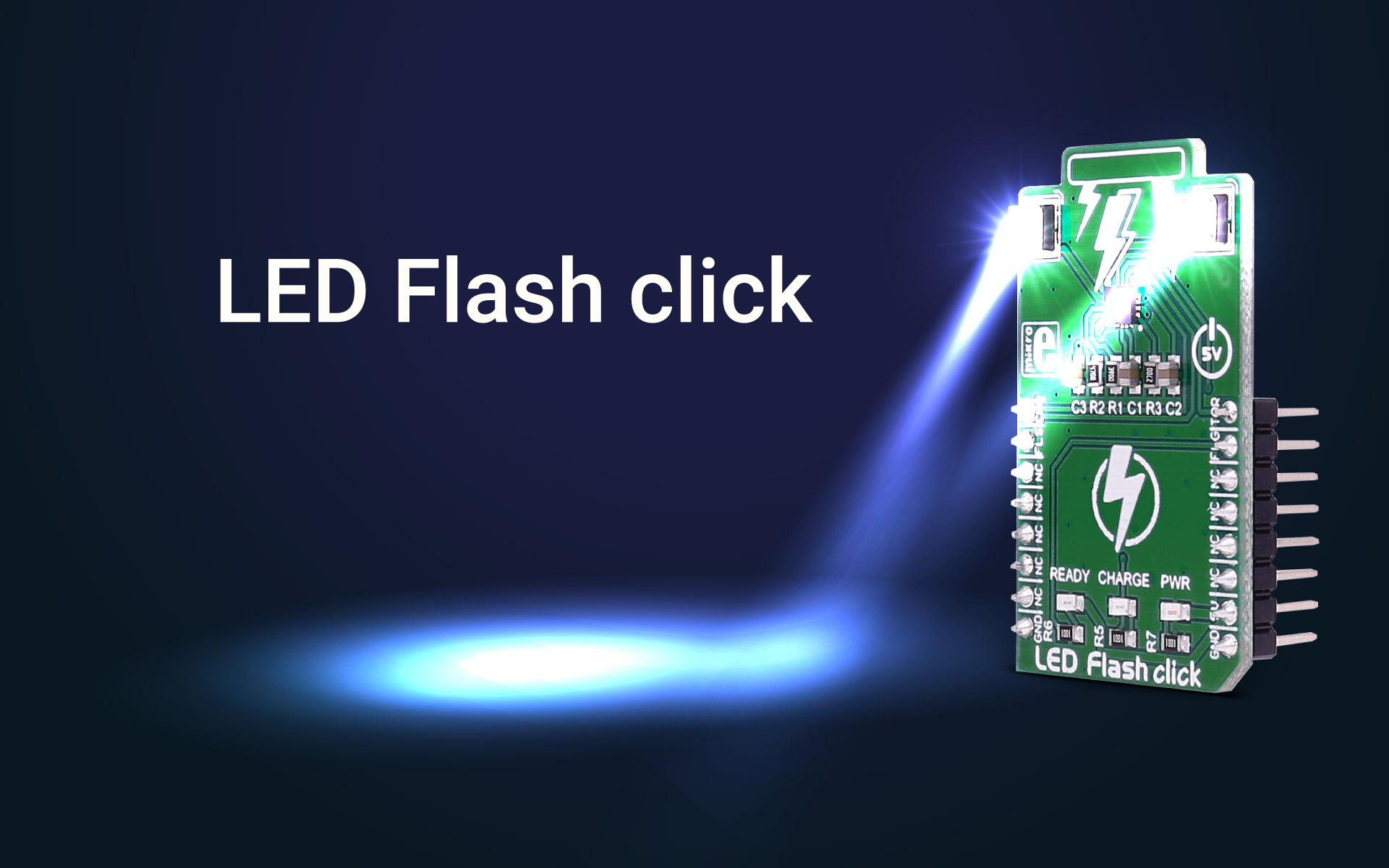 LED Flash click – a high-power LED flash in compact size
